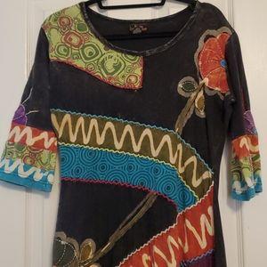 Cotton 3/4 length dress